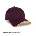 MAROON/WHITE/AUSSIE GOLD