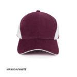 MAROON/WHITE