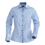 LIGHT BLUE WITH NAVY BUTTONS