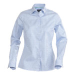 LIGHT BLUE CHECK WITH PEARL BUTTONS